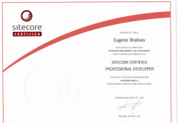 ASP.NET Sitecore Certified Developers